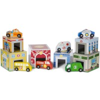 Nesting & Sorting Buildings & Vehicles Wooden Play Set