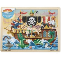 Pirate Adventure Jigsaw 48 pc Wooden Puzzle