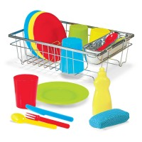 Wash & Dry Dish 24 pc Play Set with Drying Rack