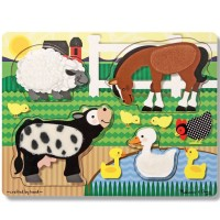 Farm Animals Touch & Feel Puzzle