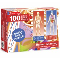 Human Anatomy Floor Double-Sided Puzzle