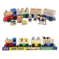 Farm Train Wooden Play Set