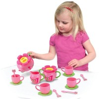 Bella Butterfly 17 pc Pink Tea Set