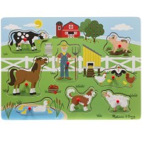 Old MacDonald's Farm Peg Sound Puzzle