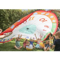 Tick Tock Clock 12 ft Play Parachute