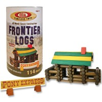 Frontier Logs 114 pc Wooden Classic Construction Set
