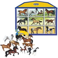 Breyer Stablemates Horse Breeds Collection - 10 Figurines Shadow Box Set
