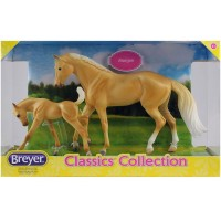 Breyer Palomino Quarter Horse and Foal 2 Figurines Set