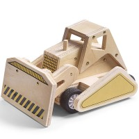 Build a Wooden Bulldozer Kids Woodcrafting Kit