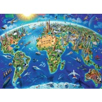 World Landmarks Map 300 pc Puzzle