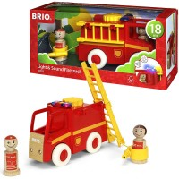 Brio Light & Sound Fire Truck Toddler Vehicle Set