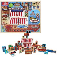 Pirate Wooden Blocks Play Set & Storybook