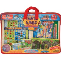 Kids 12 Wooden Magnetic Travel Games Set