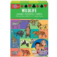 Wildlife 52 Giant Playing Cards Set