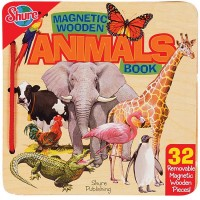 Magnetic Wooden Animals Puzzle Book