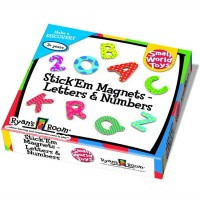 Magnetic Letters & Numbers 77 pc Wooden Set