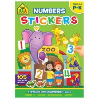 Numbers Stickers Preschool Learning Activity Book