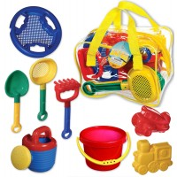 Sand Toys 7 pc Beach Set in a Bag