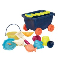 Wavy Wagon 11 pc Sand Toy Set