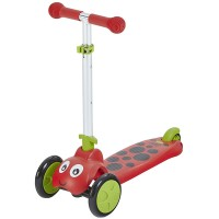 Scootie Bug 3 Wheel Folding Scooter - Red