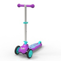 Scootie Bug 3 Wheel Folding Scooter - Purple & Blue