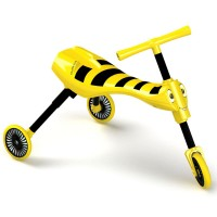 Scuttle Bug Toddler Folding Tricycle - Yellow Bee
