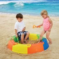 Castle Sand Pit 10 pc Beach Play Set