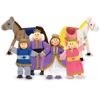 Royal Family Wooden Doll 6 pc Character Set