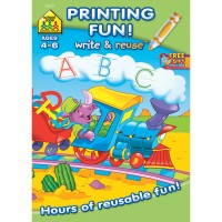Printing Fun Workbook - 26 Write-on & Wipe-off Pages