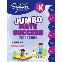 Kindergarten Jumbo Math Success Workbook: 3 Books in 1 --Basic Math Math Games and