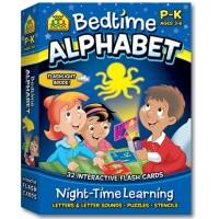 Bedtime Alphabet Interactive Flash Cards Set