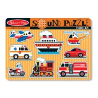 Vehicles 8pc Wooden Sound Puzzle