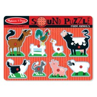 Farm Animals 8pc Wooden Sound Puzzle