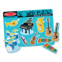 Musical Instruments 8pc Wooden Sound Puzzle