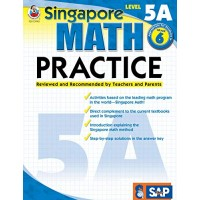 Singapore Math  Level 5A Math Practice Workbook for 6th Grade Paperback Ages 1112