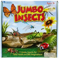 Jumbo Insects 7 pc Toy Giant Bugs Set