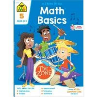 School Zone - Math Basics 5 Workbook - 64 Pages Ages 10 to 11