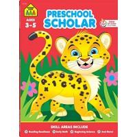 School Zone - Preschool Scholar Workbook - 64 Pages Ages 3 to 5 Preschool