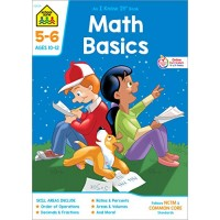 School Zone - Math Basics 5-6 Workbook - 32 Pages Ages 10 to 12