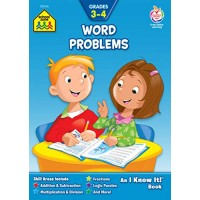 School Zone - Word Problems Workbook - 32 Pages Ages 8 to 10 Grades