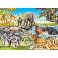 African Afternoon 100 pc Animal Puzzle