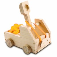 Kids Woodworking Building Set - Truck Catapult