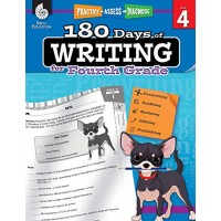 180 Days of Writing for Fourth Grade - An Easy-to-Use Fourth Grade Writing Workbook
