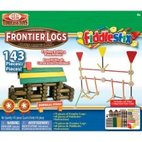 Frontier Logs and Fiddlestix 143 pc Deluxe Building Set