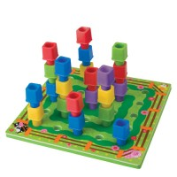 Peg Farm Stacking Activity Toy
