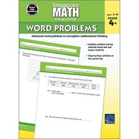 Singapore Math  Challenge Word Problems Workbook for 4th 5th 6th Grade Math Paperback