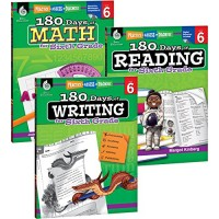 180 Days of Practice for Sixth Grade (Set of 3) 6th Grade Workbooks for
