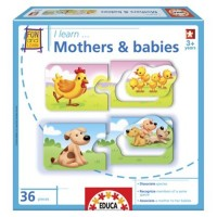I Learn Animal Mothers & Babies Matching Puzzles Set
