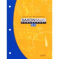 Saxon Math Homeschool 5/4: Tests and Worksheets - 3rd Edition 2004