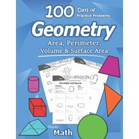 Humble Math - Area Perimeter Volume & Surface Area: Geometry for Beginners - Workbook